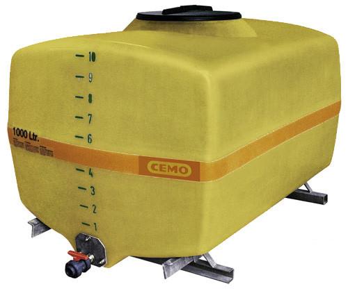 Beispiel GFK-Fass kofferförmig 1000 Liter mit Auslaufhahn