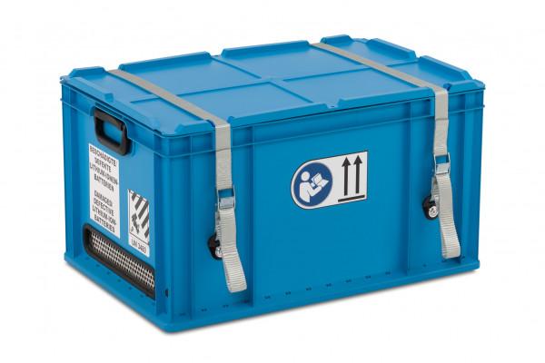 Akku-Sicherheitsbehälter mit UN-Zulassung von Cemo für mobile Gefahrstofftransporte