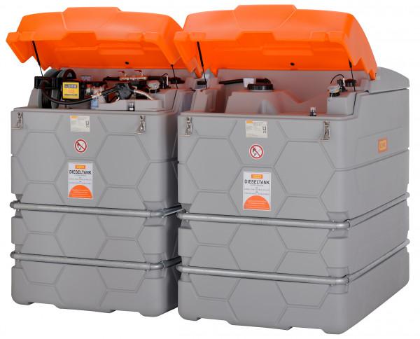 Diesel-Tankanlage CUBE 5000 Liter Outdoor komplett mit Elektropumpe sowie Klappdeckel uvm.
