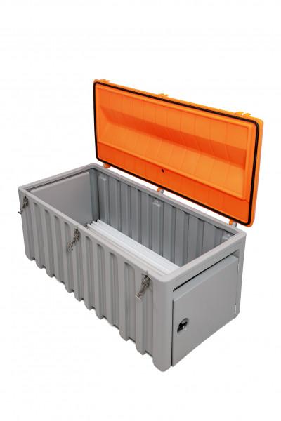 Leuchtstoffröhren-Sammelbox 750 Liter mit 3 Exzenterverschlüssen