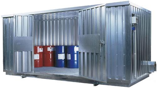 Beispiel Raumcontainer SRC 5.1W verzinkt mit zweiflügeliger Tür
