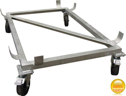 Lenkrollengestell aus Stahl verzinkt
