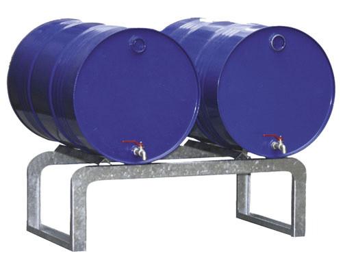 Beisoiel Fassbock Typ FB2 für 2 Fässer, ohne Auffangwanne