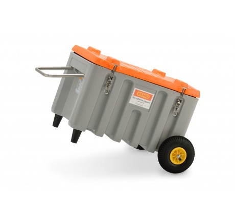 CEMbox-Trolley Offroad mit 150 Liter in grau|orange von Cemo