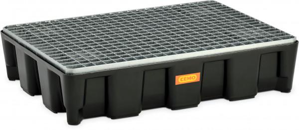 Flächenschutzsystem mit PE-Auffangwanne 60HD mit Stahlgitterrost verzinkt