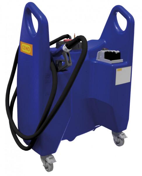 Transfer-Trolley Blue 150 Liter mit Tauchpumpe – Akku und Ladegeräte
