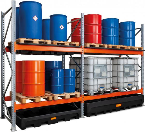 Beispiel für Anbauregal für Gefahrstoff-Palettenregal 27/1100