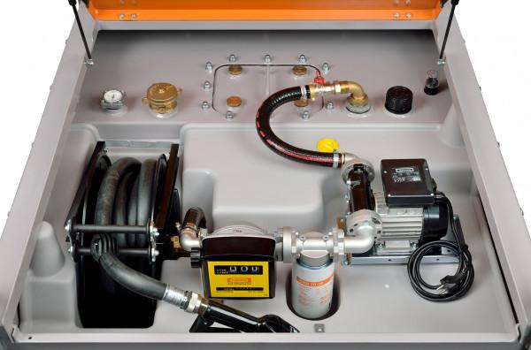 Beispiel DT-Mobil PRO ST 980 Premium PLUS mit Stahlinnentank und Schlauchaufroller zusätzlich mit Tankdatenverwaltungssytem