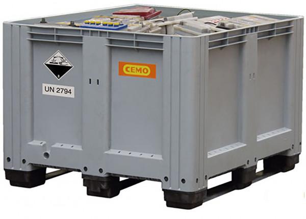 Altbatteriebox aus PE als Sammelbehälter