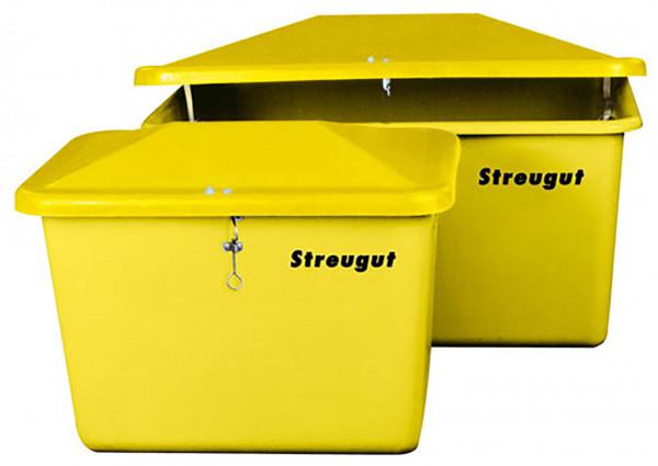 Abb. ähnlich: Streugutbehälter aus GFK 200 und 400 Liter – Farbe gelb