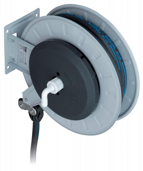 Schlauchaufroller Stahlblech mit Federrückzug, 15 m Schlauch ø 19 mm für Wasser / AdBlue®