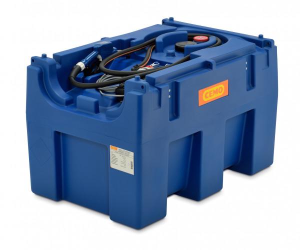 Beispiel Blue-Mobil Easy 430 l mit Elektropumpe und Zähler sowie Automatik-Zapfventil
