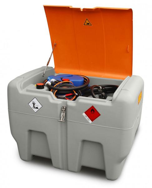Abb. ähnlich: DT-Mobil Easy COMBI 440/50 Liter mit 24-V-Pumpe für Diesel und 12-V-Elektropumpe CENTRI SP30 sowie Klappdeckel