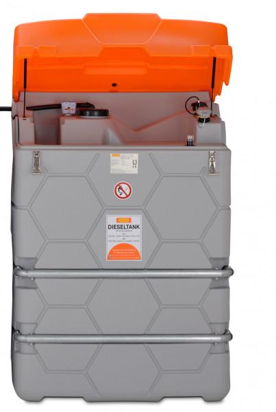 Beispiel CUBE-Tank als Erweiterungseinheit 1500 Liter – Outdoor mit Deckel