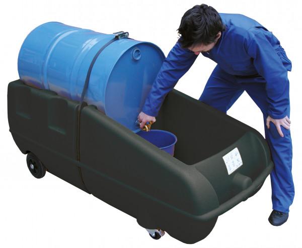 Mobile Abfüllstation aus Polyethylen – Anwendungsbeispiel