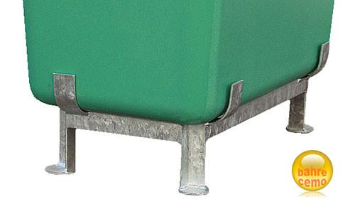 Beispiel Stahlfußgestell für Streugut- und Rechteckbehälter, hoch