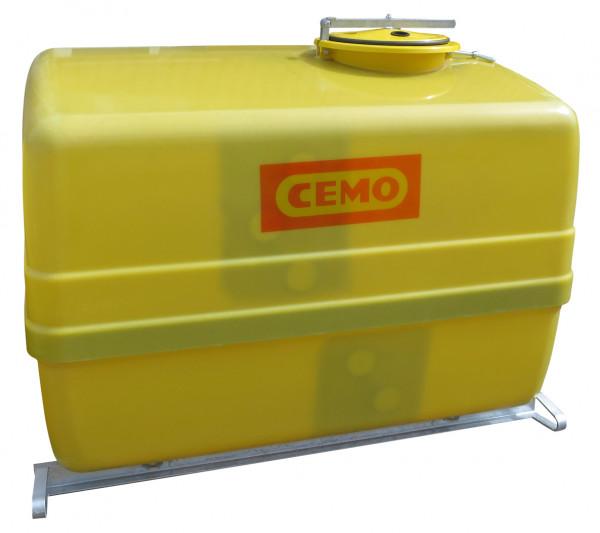 Cemo GFK-Fass 4000 Liter mit Kreuzschwallwänden und Stahlkufen – seitlich versetzter Einfülldom ø 420 mm