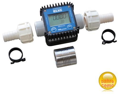 Digitaler Durchflusszähler K24, 2 Schlauchanschluß-Stücke und Muffe