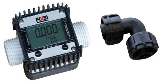 Digitaler Durchflusszähler K24 mit Winkelstück