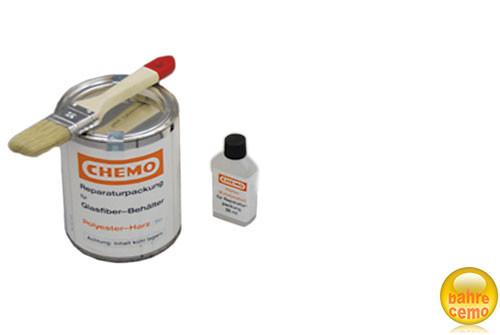 Polyester-Klebepackung, Klebejarz und Härter, Pinsel nicht im Lieferumfang