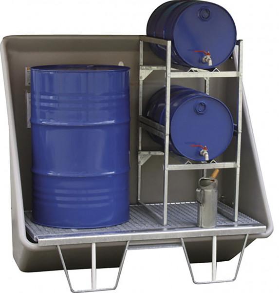 Beispiel Schadstoff-Sammelstation mit Gitterrostboden zur Aufstellung im Gebäude