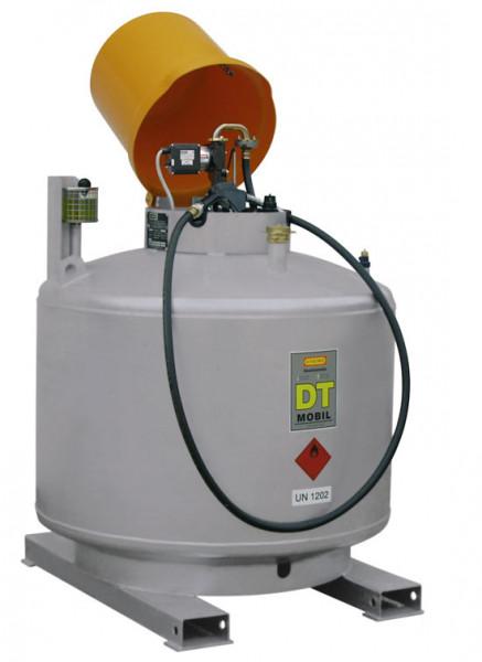 Beispiel DT-MOBIL doppelwandig lackiert mit Elektropumpe und Haube
