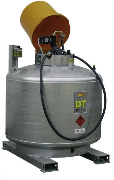Abb. ähnlich: DT-Mobil 980 Liter doppelwandi verzinkt mit Haube – Elektropumpe 12 V und Automatik-Zapfpistole