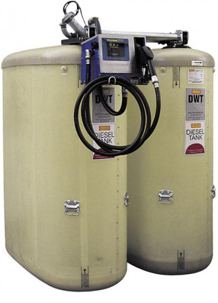 Dieseltankstation mit zwei DWT-Tanks je 2350 Liter und Elektropumpe