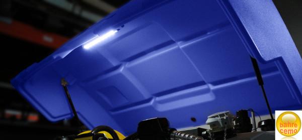Klappdeckel blau für AdBlue® CUBE-Tanks mit 5000 Liter - Armaturenbeleuchtung nicht im Lieferumfang