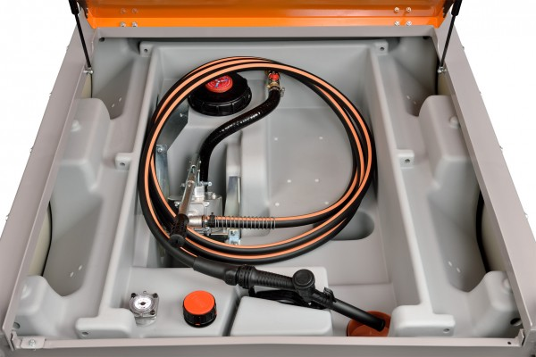 DT-Mobil PRO PE 980 mit Handpumpe, 4 m Befüllschlauch, Zapfventil