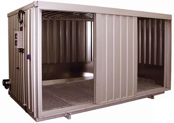 Stahl-Raumcontainer Beispiel Typ SRC 4.1W ST verzinkt mit Schiebetoren