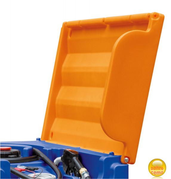 Beispiel Klappdeckel geöffnet – für Blue-Mobil Easy 430 und 600 Liter