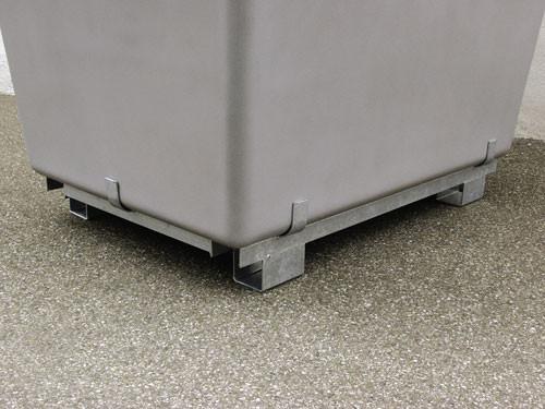 Beispiel Stahlfußpalettel für Streugutbehälter
