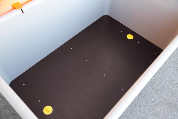 Einlegeplatte 200 für unterfahrbare Behälter