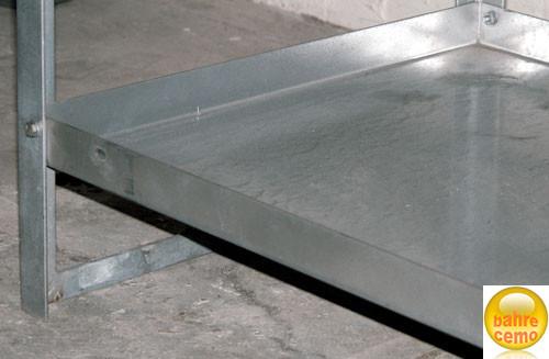 Wannenboden aus Stahl, 20 Liter Volumen