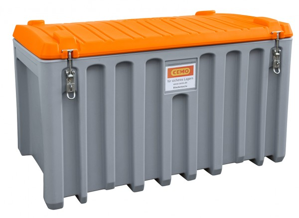 Beispiel CEMbox grau/orange in 400 Liter Größe