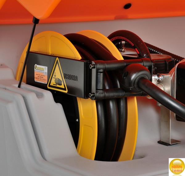 Schlauchaufroller für CUBE-Tank, 15 m Befüll-Schlauch