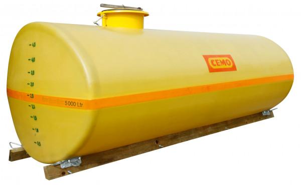 Beispiel GFK-Fass oval 5000 Liter mit Holzkufen