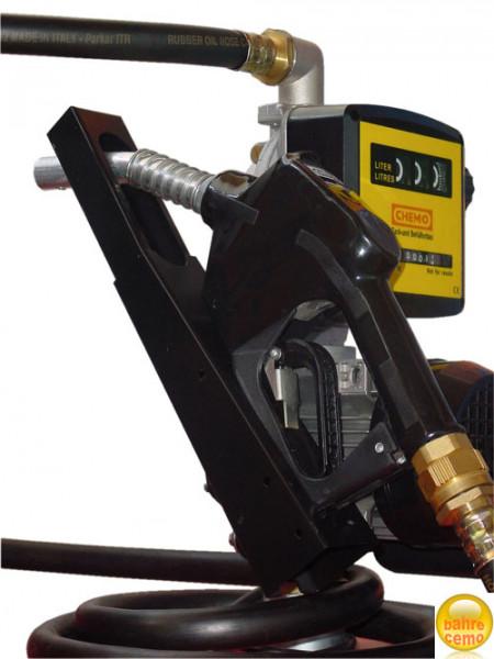 Beispiel Zapfpistolenhalter montiert an Cematicpumpe komplett