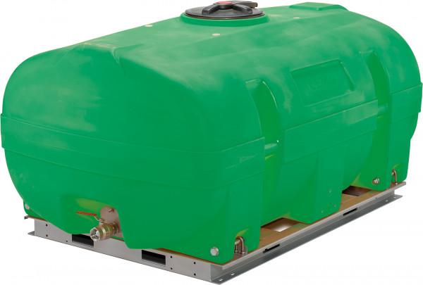 PE-Weidefass 3000 Liter kofferförmig mit montierten Schwallwänden – Lieferumfang ohne Grundrahmen