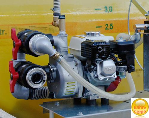 Motorpumpe 500 l/min mit Benzinmotor, Saug- / Druckanschluss