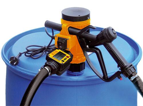 Beispiel Elektropumpe CENTRI 230 V mit Zähler - nicht im Lieferumfang enthalten