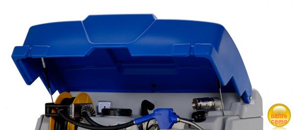 Klappdeckel blau für CUBE-Tank komplett