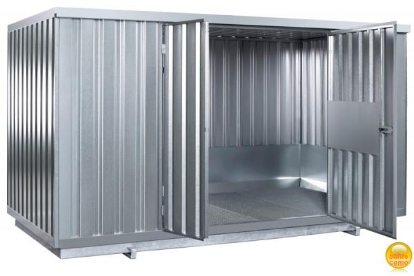 Beispiel Sicherheitsraumcontainer verzinkt mit natürlicher Belüftung