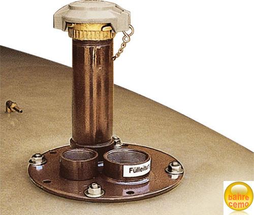 Domdeckel aus Stahl für PROFI-Tank 1500 / 2350 Liter