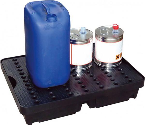 Beispiel PE-Auffangwanne 60 Liter mit PE-Rost