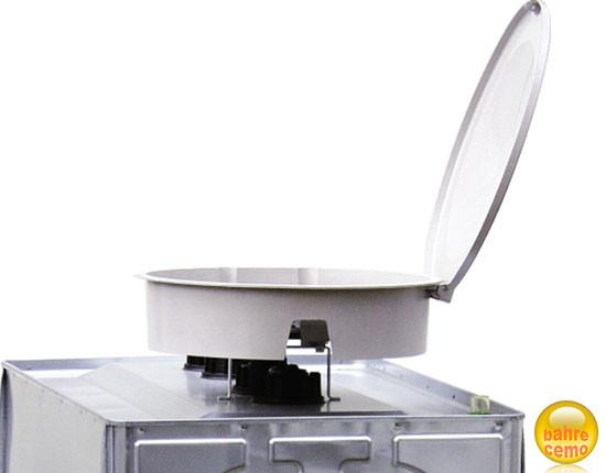 GFK-Einfüllschale mit Deckel für UNI- und MULTI-Tanks